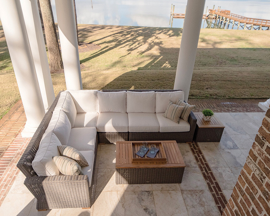 Naples Wicker Sectional Sofa 7 pc Outdoor Set