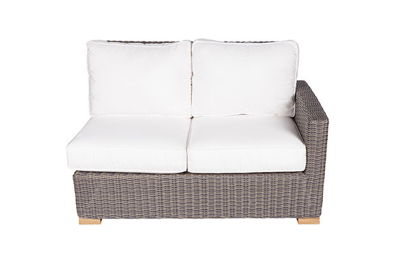 Naples Wicker Sectional Sofa 2 Seat Left Arm