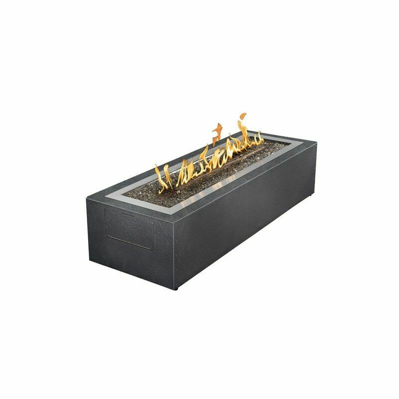 Napoleon Linear Patio-flame Propane Gas Fire Pit with Glass Wind Screen