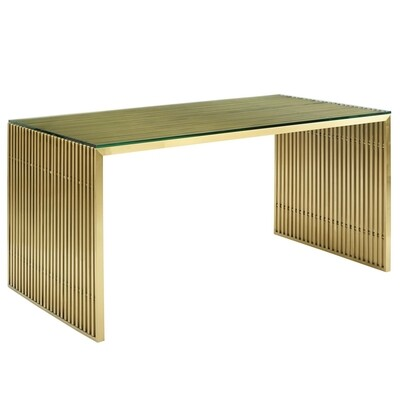 """59"""" Gaines Stainless Steel Office Desk 