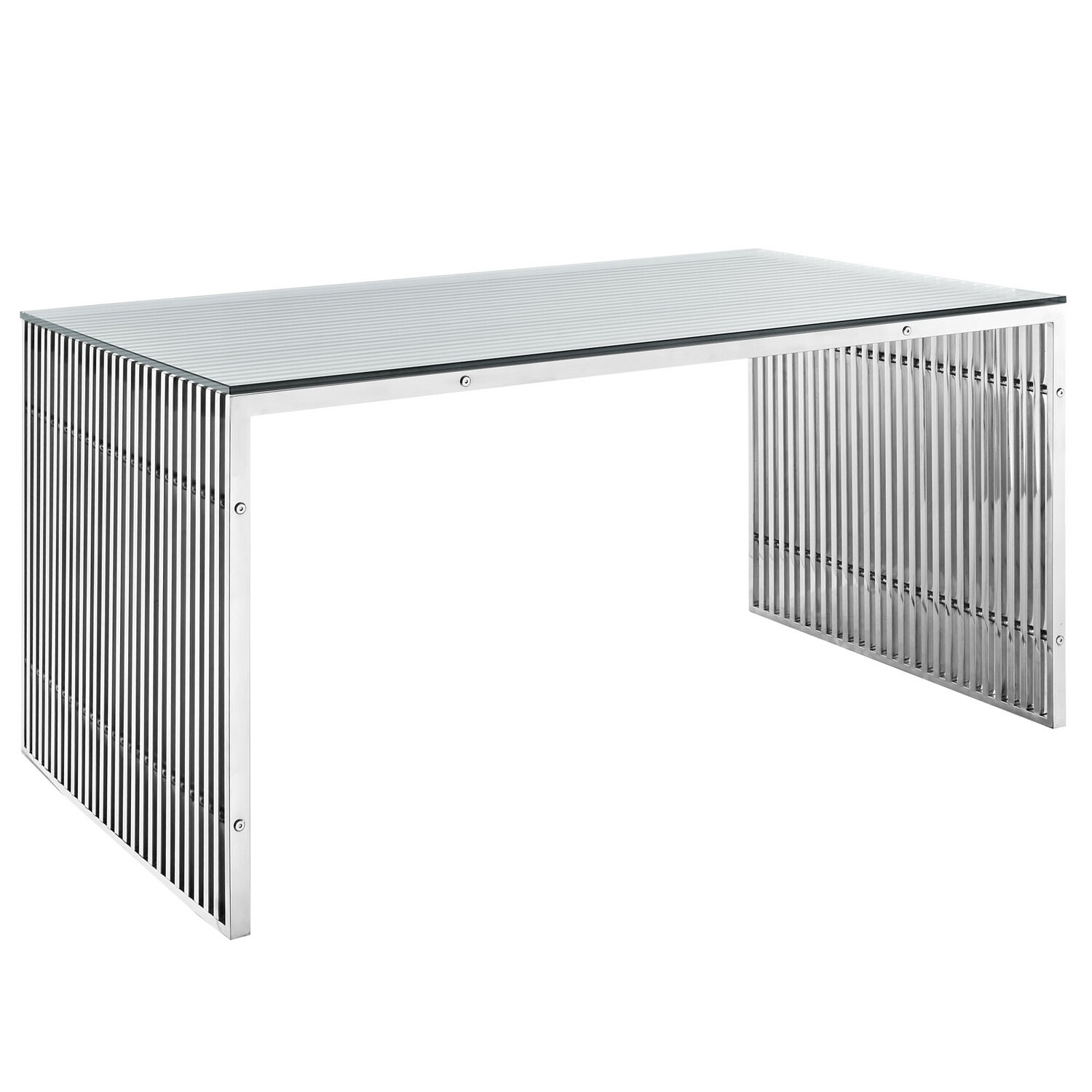 "59"" Gaines Stainless Steel Office Desk 