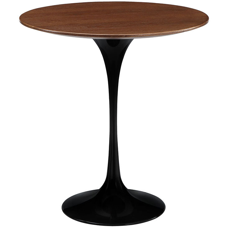 "Lissa 20"" Wood Side Table in Black"