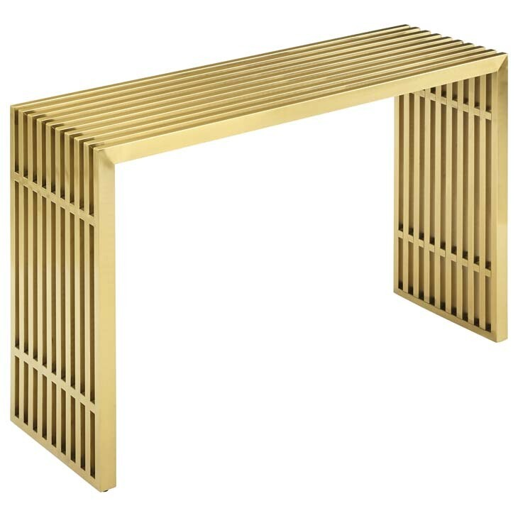 Gaines Gold Console Table