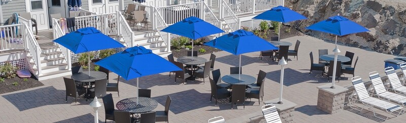 Monterey Square Market Umbrella with Pulley Lift