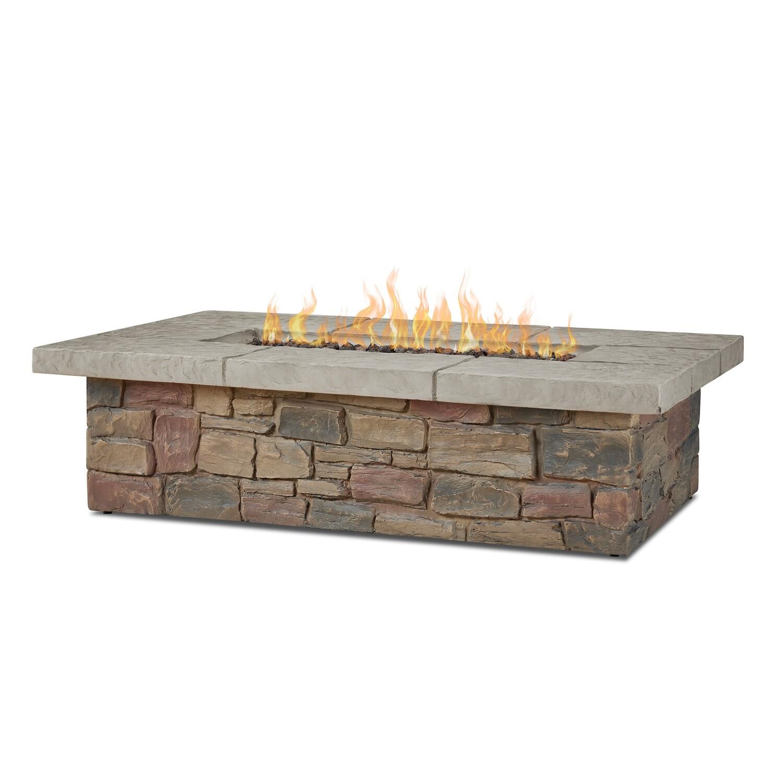 "Sandestin 52"" Rectangle Fire Pit Table | Buff"