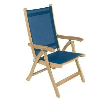 Destin Reclining Teak Sling Chair | Set of 2