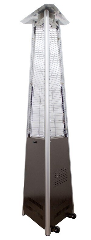 Commercial Grade Glass Tube Patio Heater | Hammered Bronze