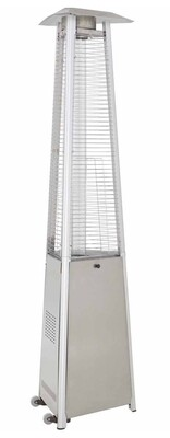 Commercial Grade Glass Tube Patio Heater | Stainless Steel