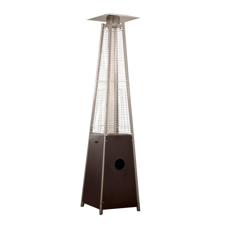 Residential Quartz Glass Tube Patio Heater | Hammered Bronze