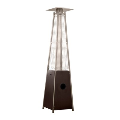 Residential Quartz Glass Tube Patio Heater | Hammered Bronze