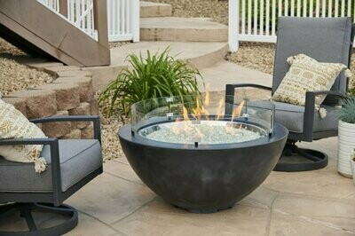 "Cove 30"" Fire Bowl | Natural Black"