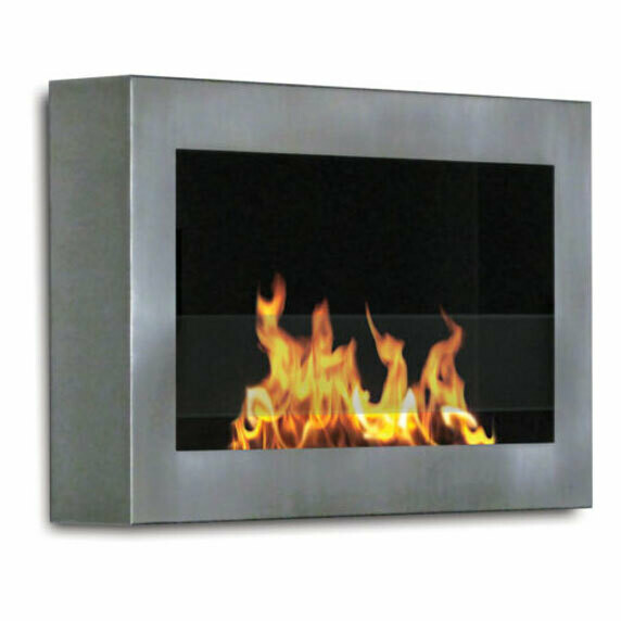 Sahara Ventless Wall Mount Fireplace | 3 Finishes