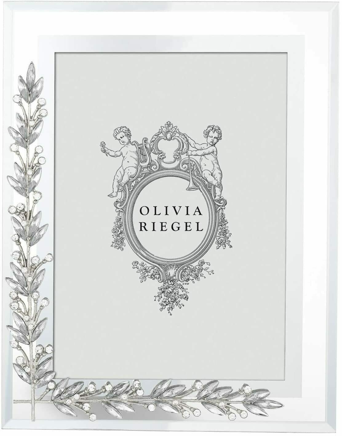 Olivia Riegel Silver Laurel 5 x 7 Frame