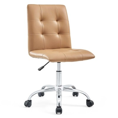 Prime Armless Mid Back Office Chair | 8 Colors