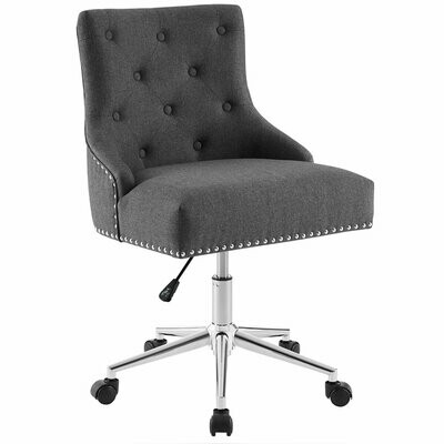 Parker Armless Swivel Office Chair | 4 Fabric Colors