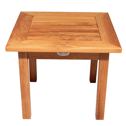 Teak Square Side Table