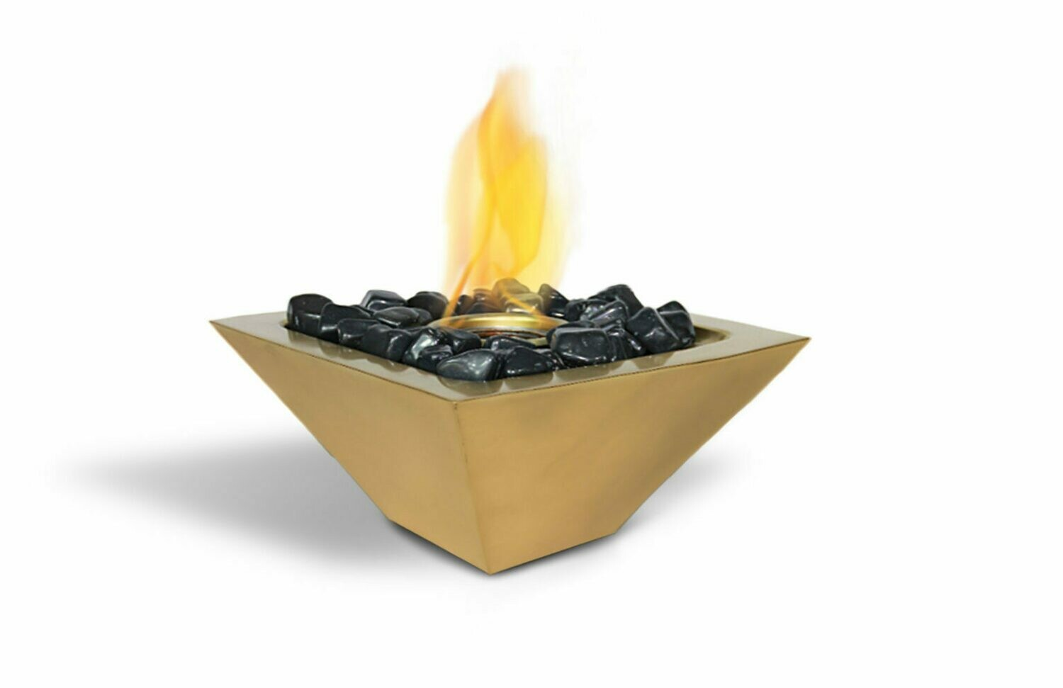 Elite Gold Table Top Fireplace