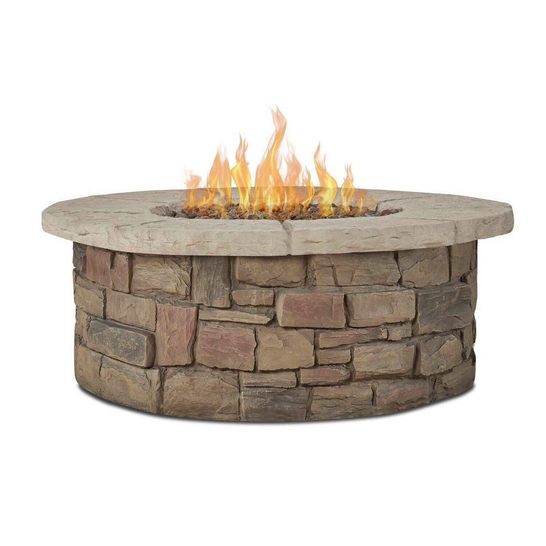 Sandestin Round LP Fire Pit Table | Buff