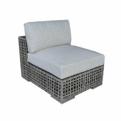 Portofino Open-Weave Wicker Sectional Armless Chair