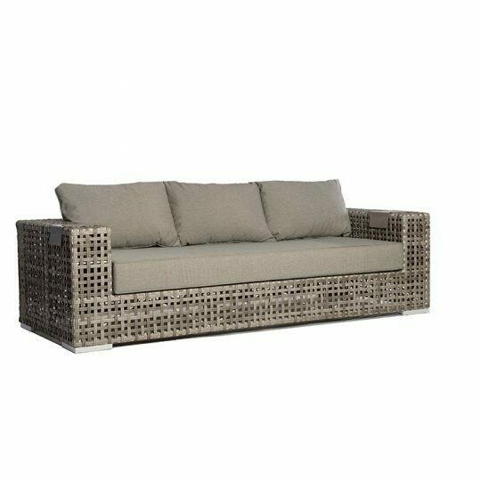 Portofino Open-Weave Wicker Sofa