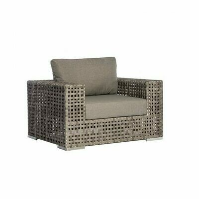 Portofino Open-Weave Wicker Club Chair