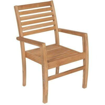 Teak Stacking Dining Arm Chair