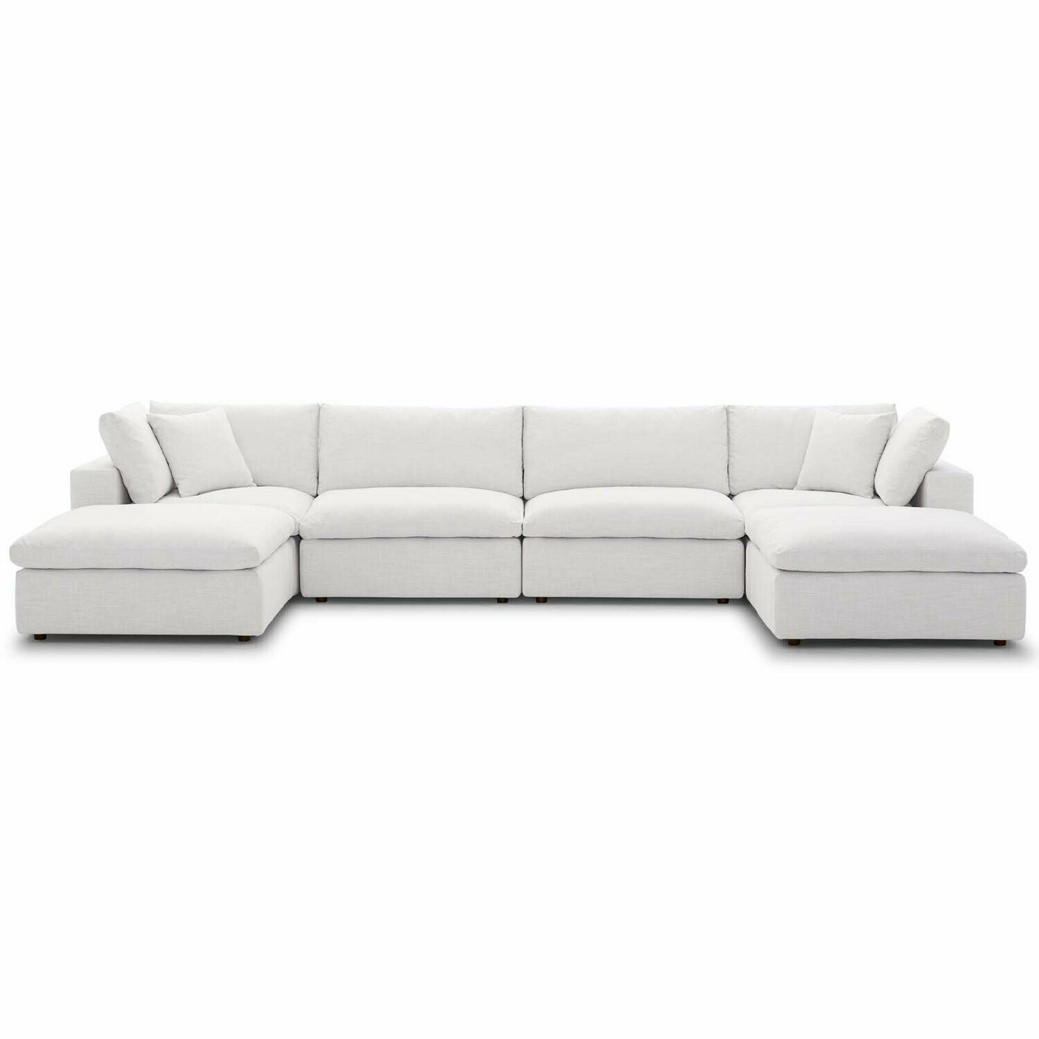 Comet Down Filled Overstuffed 6 Piece Sectional Sofa Set