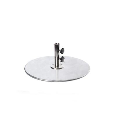 Galvanized Steel Plate Round Base | 70 LBS