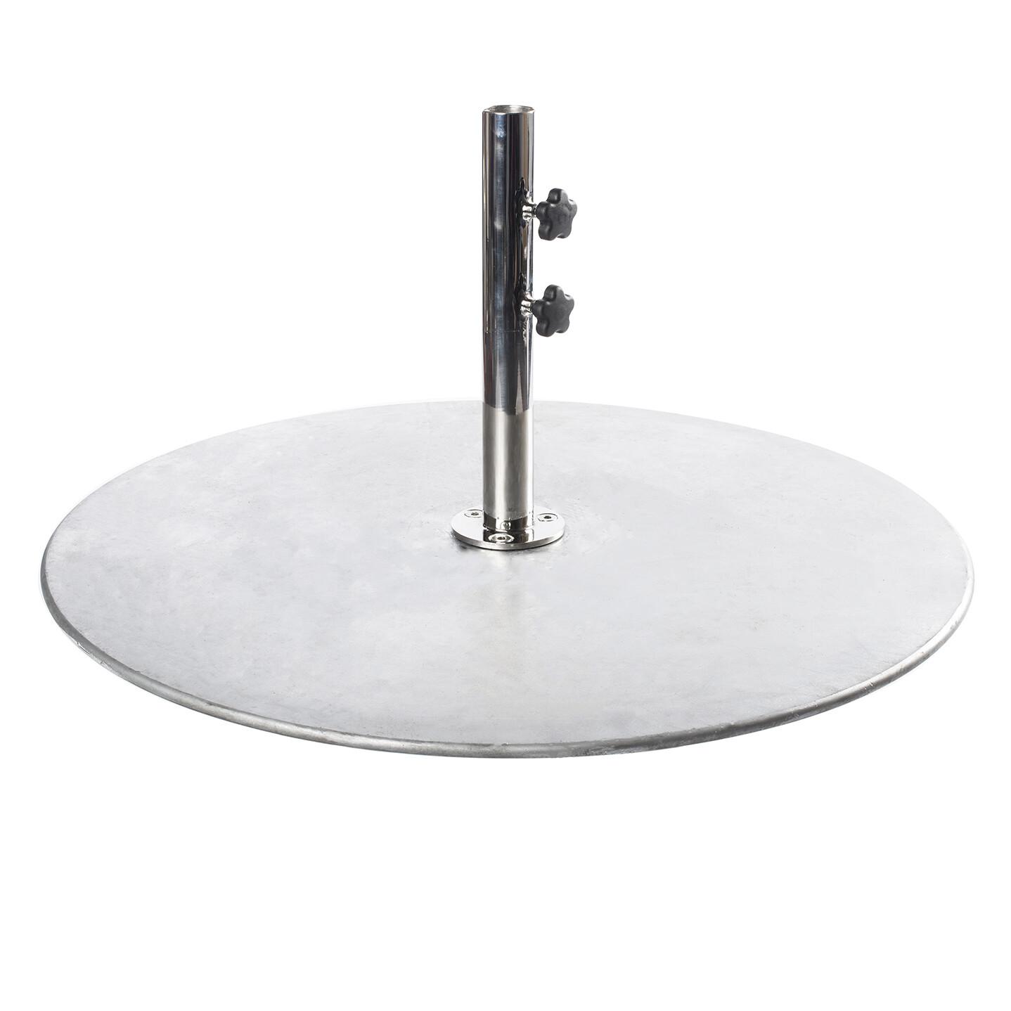 Galvanized Steel Plate Round Base   100 LBS