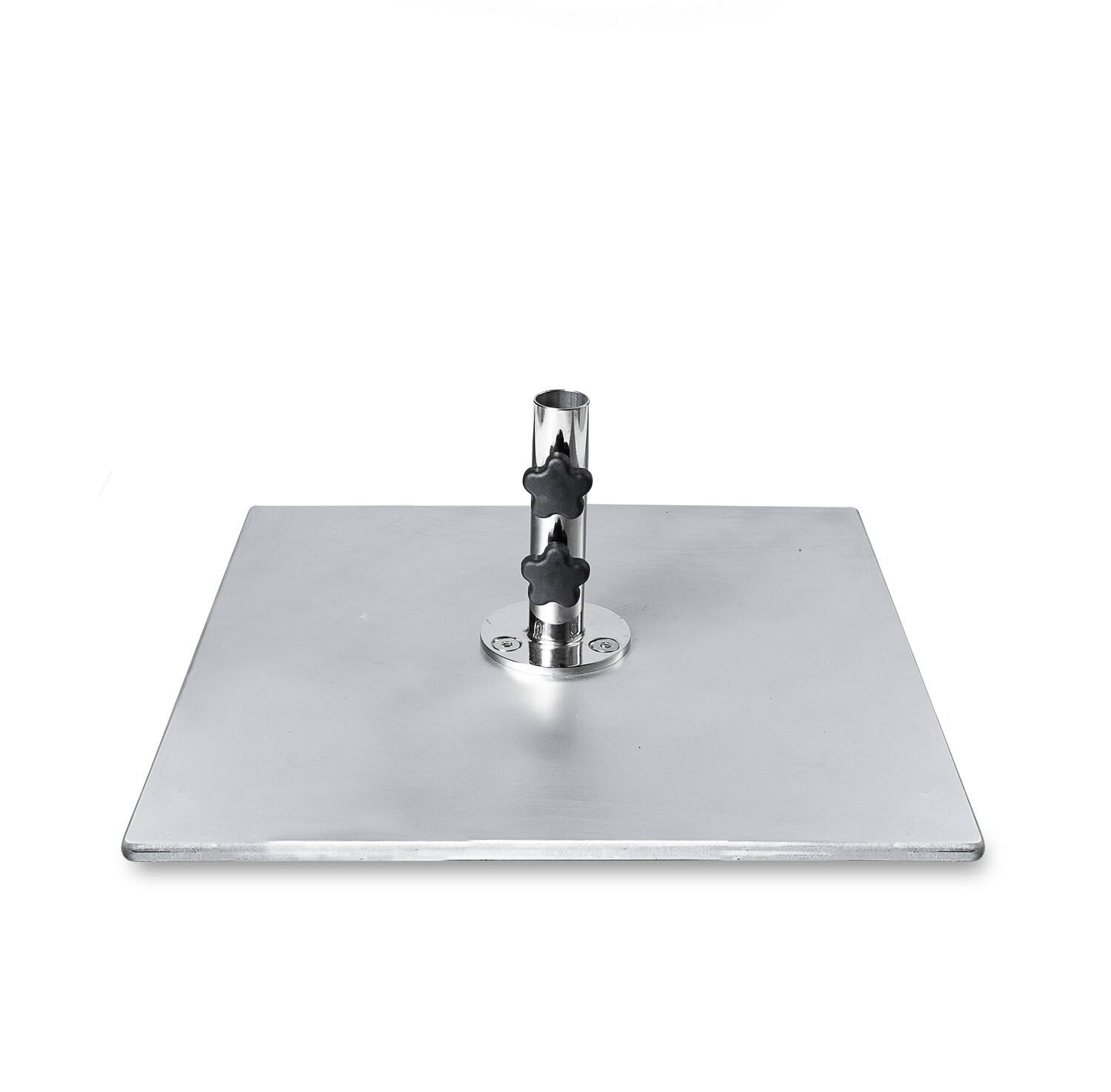 Galvanized Steel Plate Square Base   100 LBS