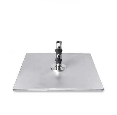Galvanized Steel Plate Square Base | 100 LBS