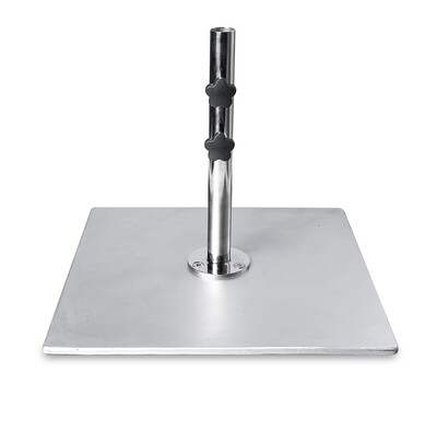 Galvanized Steel Plate Square Base | 200 LBS