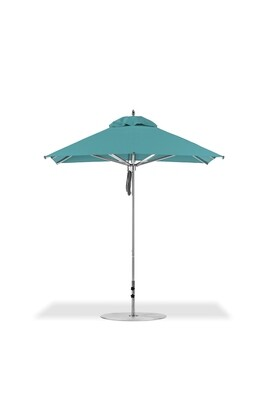 Greenwich Square Aluminum Market Umbrella with Pulley Lift | 2 Canopy Sizes