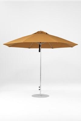 Monterey Round  Fiberglass Market Umbrella with Pulley Lift