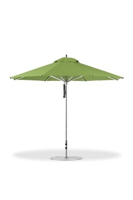 Greenwich Round Aluminum Market Umbrella with Pulley Lift | 3 Canopy Sizes