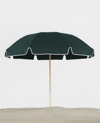 Avalon 6.5' Ash Wood Pole Beach Umbrella with Valance