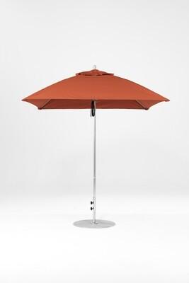 Monterey Square Fiberglass Market Umbrella with Pulley Lift
