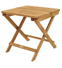 Teak Folding Side Table
