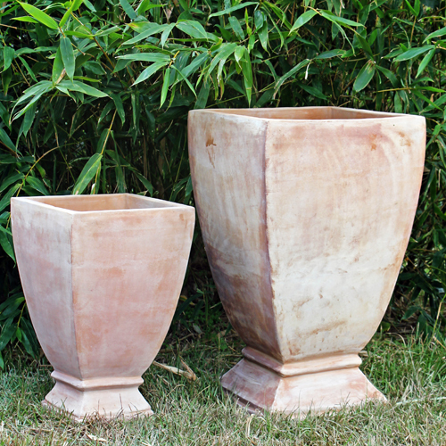 Milan Square Footed Urn - Set of 2