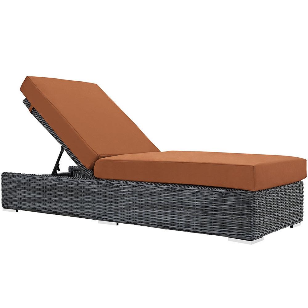 North Avenue Patio Chaise Lounge with Sunbrella® Cushion   5 Colors
