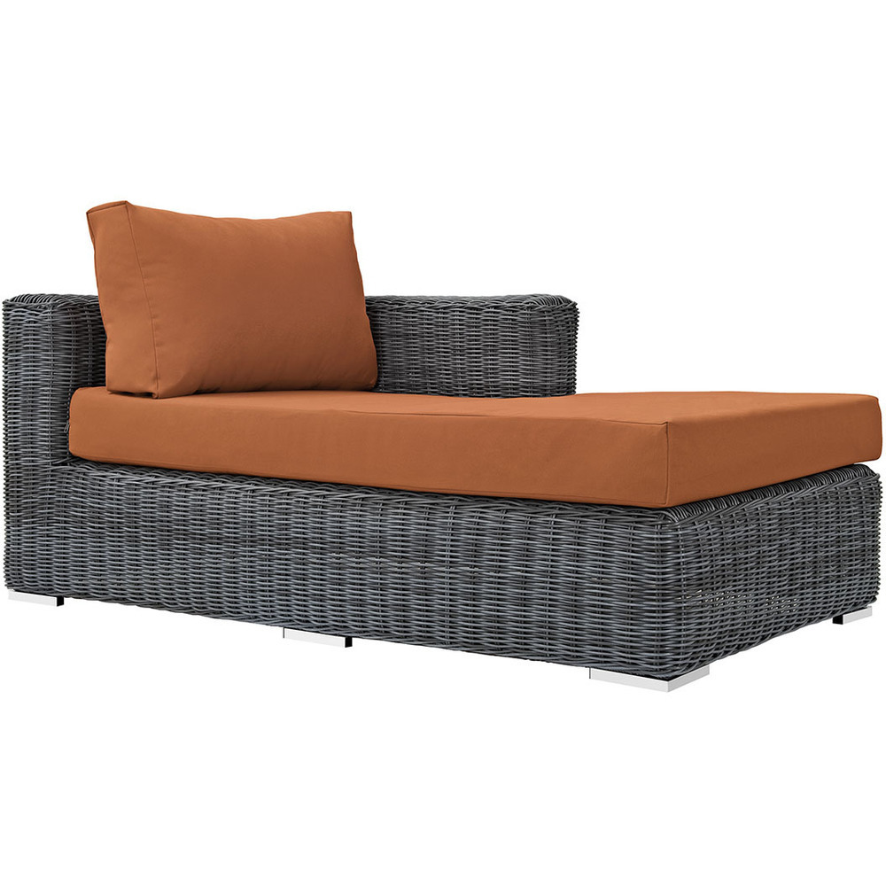 North Avenue Patio Sectional Right Arm Chaise with Sunbrella® Cushion
