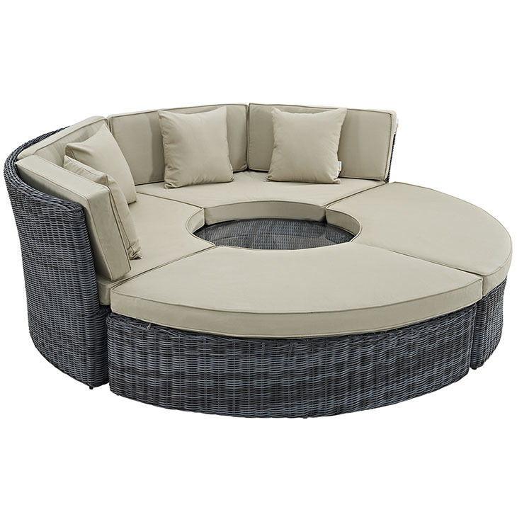 North Avenue Patio Sectional Daybed with Sunbrella® Cushion   3 Colors