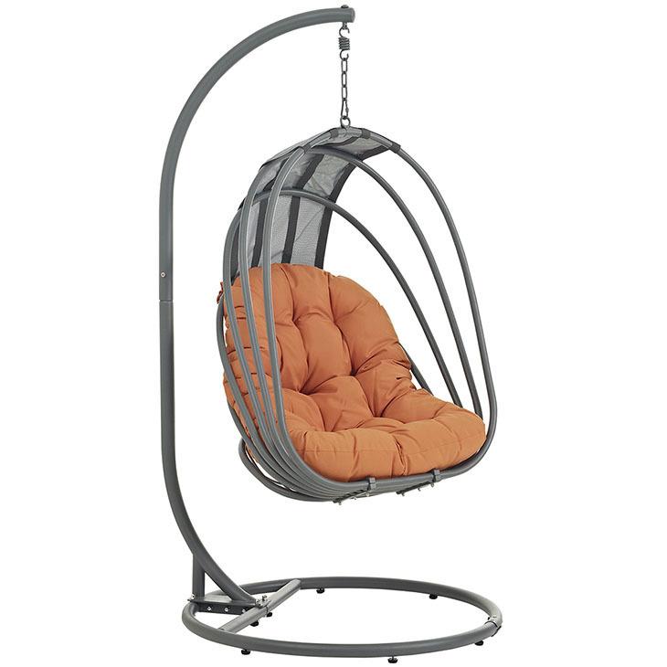 Whisk Hanging Swing Chair | Orange Cushion