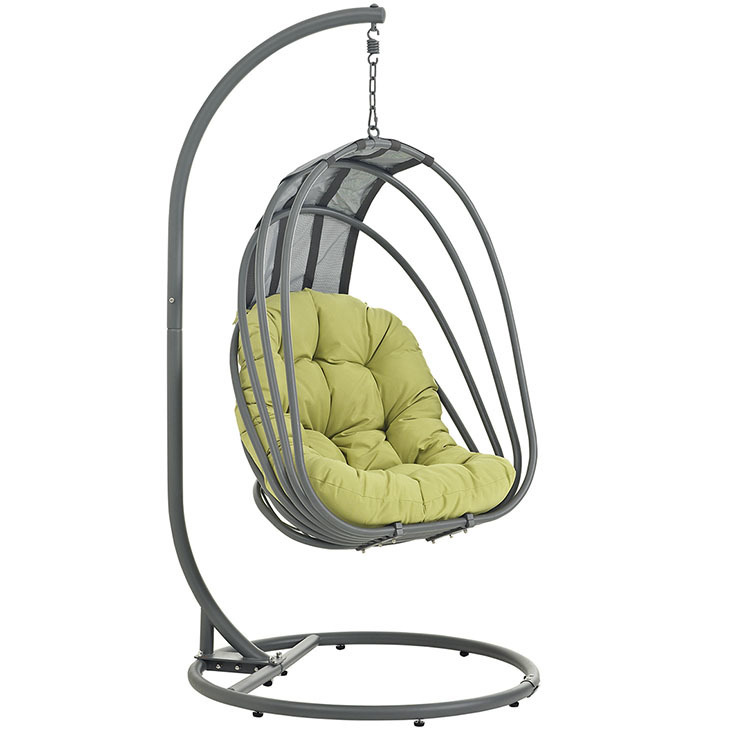 Whisk Hanging Swing Chair | Peridot Cushion