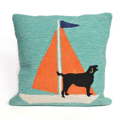 Sailing Dog Pillow (Orange)