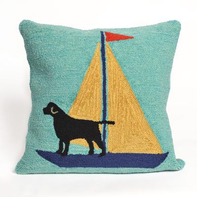 Sailing Dog Pillow (Yellow)