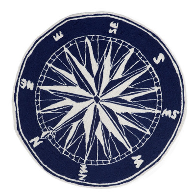 Compass Navy Round