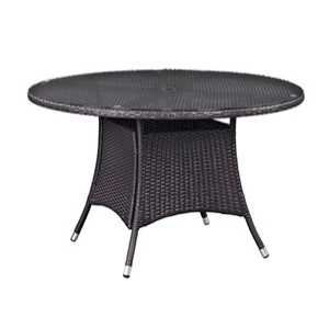 """Hinsdale Patio 47"""" Round Dining Table with Glass Top"""