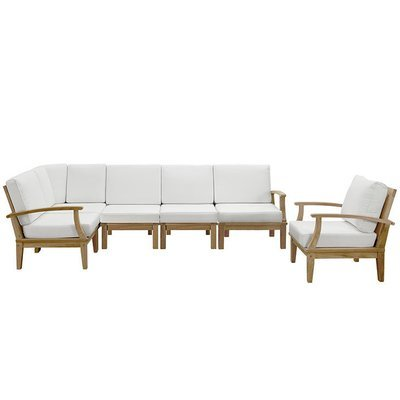 Belmont Harbor 6 Piece Teak Sectional Set