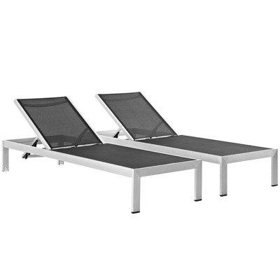 Shoreline Sun Lounger Chaise Set (2)